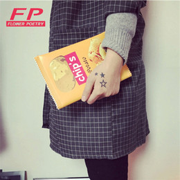 Wholesale Wholesale Chips Cell Phones - Fashion Women Envelope Bags PU Leather Handbag Potato Chips Day Clutches Bags 3 Size Available Women shoulder Ladies Purses