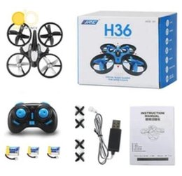 Wholesale Rotor Led - JJRC H36 Mini Drone 2.4Ghz 4CH 6-Axis GYRO RC Quadcopter Headless LED Mode One Key Return Helicopter MOQ 10pcs