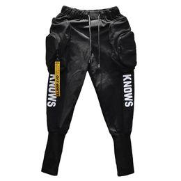 Canada Printemps Eté Hip-hop Joggers Cargo sarouel homme Longues grandes poches Fermetures à glissière Blanc Noir Offre