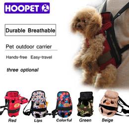 HOOPET Mochila para perros de color rojo de moda Mochila para perros de viaje mochila transpirable para mascotas cachorro de mascota cachorro desde fabricantes