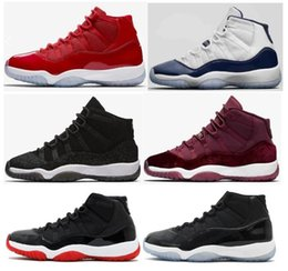 Wholesale Navy Black Shoes - High Quality 11 11s Premium HC Black Stingray Basketball Shoes Men Women Gym Red Win Like 96 Midnight Navy Sneakers With Shoes Box