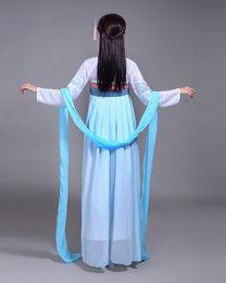 Wholesale Hanfu Women - 2018 new female costume Hanfu skirt long sleeved dress in Tang Dynasty improved Royal photography Costume