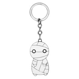 Игрушки для мумии онлайн-Fashion Anime How To Keep A Mummy Kawaii Big Eyes Mini Mummy Keychain Toy Figure Dolls Alloy Metal Key Chain Gift For Childrens