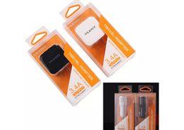 Carro base de telefono online-OLESiT Dual USB Wall Charger 2.4A Cargador de coche 2.1A Cargador de teléfono móvil de carga rápida para iphone para samsung con caja de venta