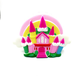 Wholesale Cute Hand Bags - Cute Castle Squishy Hand Squeezed Toy Stress Reliever Squishies Adult Decompression Toys Kid Gift Hot Sale 28rbd C