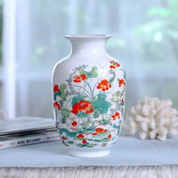 fiori di cinese vaso Sconti Nuovo vaso di stile cinese Jingdezhen porcellana classica Kaolin Flower Vase Home Decor fatti a mano splendente Famille Rose Vasi