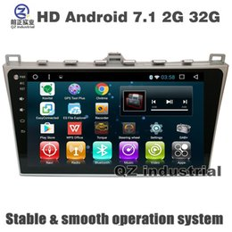 Wholesale Map Mazda - QZ 10.2inch HD 1024*600 Android 7.1 for MAZDA 6 2012-2014 Car dvd player with 3G 4G WIFI BT SWC GPS Navigation Radio OBD DAB Stereo free map
