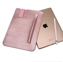 2019 capa de couro apple macbook pro Para ipad pro10.5 9.7 12.9 Caso Laptop Super Macio de Alta Qualidade Com Caneta de Bolso Lidar Com Bolsa de Negócios de Moda de Couro