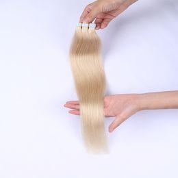 Hint İnsan Saç Uzantıları Bant Düz Bant ins 40 adet Çift Çizilmiş Remy Saç 8-22 inç G-KOLAY supplier indian remy tape hair extensions nereden hint remy teyp saç uzantıları tedarikçiler