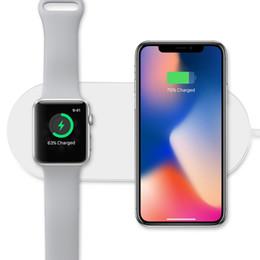 Argentina Cargador inalámbrico inalámbrico de carga inalámbrica para iPhoneX / 8/8 Plus y Apple Watch Series 2/3, Samsung Galaxy Note de dispositivos habilitados para Qi supplier wireless charger for galaxy note Suministro