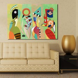 Wholesale Cartoon Picture Wall Room - Las Musas Kandinsky By That Careless Fairy Oil Painting Moder Home Decor Picture Wall Pictures For Living Room No Frame