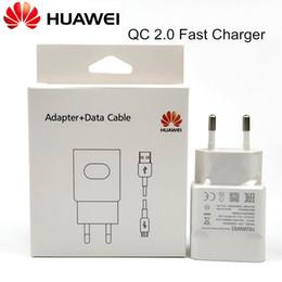 2019 cargador original huawei móvil Original Huawei Cargador rápido Huawei P9 Plus p10 lite p8 Honor 8 9 MATE 8 Teléfono móvil QC 2.0 Adaptador de pared CARGA RÁPIDA Usb CABLE rebajas cargador original huawei móvil
