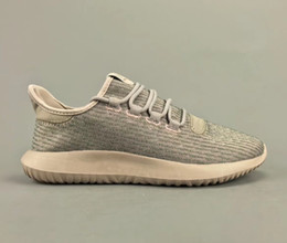 Wholesale Women Summer Knitted Boots - TUBULAR SHADOW KNIT BY7534 Running Shoes for Men Women 2018 New Black White Khaki Knitting Sneakers Walking Boots