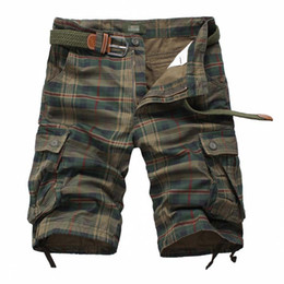 Новый мужской хлопок грузовые шорты хорошее качество мульти-карман брюки плед инструмент шорты Мужской на открытом воздухе случайные шорты от
