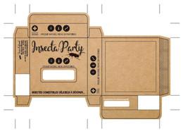 Deutschland Individuelle Kraftboxen in hochwertigem Druck schwarz 80x80x20 Kraftpapierboxen mit Fenster stanzen 500xA4 Kraftpapieraufkleber / -etiketten Versorgung