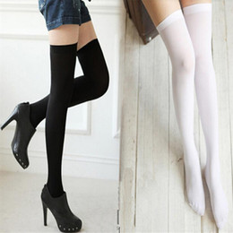 082694958d9 2018 New 1 Pair Fashion Thigh High Over Knee High Socks Womens Girls  Fashion Opaque Over Knee Thigh Elastic Socks New