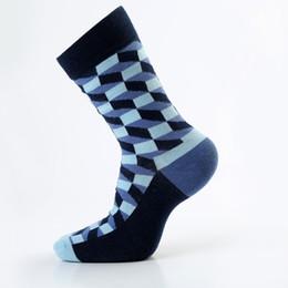 f7de3bf2e7af5 5 paires / lot coton peigné chaussettes pour hommes chaussettes de  compression heureux coloré diamant robe drôle chaussettes hommes grande  taille 39 -46