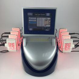 Wholesale Laser Lipolysis Machines - 10 laser pads 160mw dual wavelength Smart i lipo laser machine weight loss diode lipo laser lipolysis slimming machine