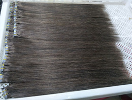 Wholesale Taped Wefts Hair Extensions - 40Pcs 100G Pu Tape In Human Hair Extensions 14 16 18 20 22 24inch Brown Color 4# Adhesive Skin Wefts, free DHL