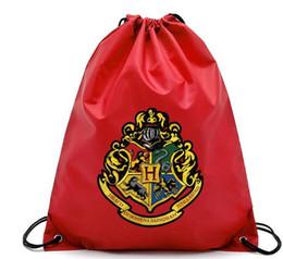 sacos de escola de harry potter Desconto Harry Potter Sacos de Bolso Com Cordão Moda Escola Bolsa de Lona Mochilas Harry Potter sacos de Compras Bolsa 4 design KKA5752