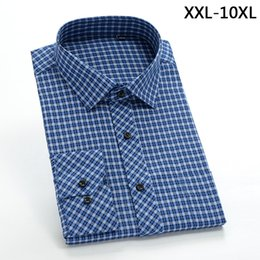 Wholesale Large Mens Dress Shirts - 2017 New comming Mens long sleeve cotton shirts formal dress shirts very big large plus size XXL-4XL 5XL 6XL 7XL 8XL 9XL 10XL