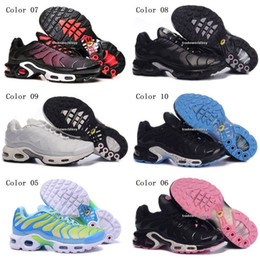 Wholesale Womens Green Tennis Shoes - Discount Brand New Women's TN Running Shoes Black White Womens Athletic jogging Tennis Shoes Pink Woman Training Sports Sneakers
