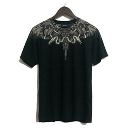 2019 marcelo burlon hemden 18SS Italien Mailand Wings T-Shirt Marcelo Burlon T-shirts Sommer Mode Streetwear Feder Marcelo Burlon Top Tees rabatt marcelo burlon hemden