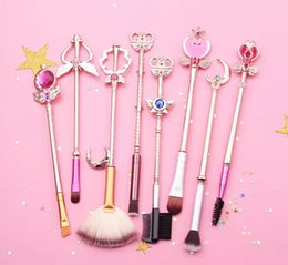 sailor moon set Promo Codes - Sailor moon Cosmetic brush Makeup Brushes Set Tools kit Eye Liner Shader natural-synthetic hair Free shipping 2 style