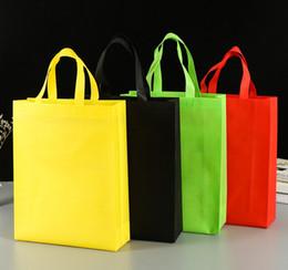 faltbare umwelttaschen Rabatt 1 STÜCK Umwelt Einkaufstasche Wiederverwendbare Faltbare Nonwoven Tote Taschen Lebensmittelgeschäft Lagerung Handtasche Folding flache einkaufstaschen