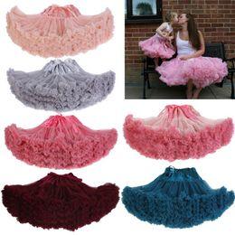 Wholesale Girl Spells - Wholesale-Fashion Cosplay fluffy Teenage girl girl's spell color Christmas tutu skirt veil performances skirt