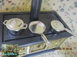 Garniture Scene Clay pour maison de poupée MINI - batterie de cuisine épaisse en trois pièces argentée ? partir de fabricateur