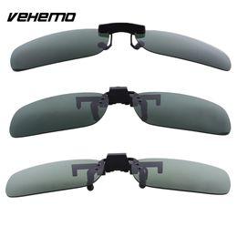 Lentes de substituição de óculos de sol on-line-As lentes polarizadas escuras da substituição de Vehemo levantam o grampo sobre para a condução exterior dos óculos de sol