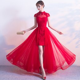 5274228d86d Red Traditional Wedding Bride Cheongsam Dress Modern Chinese Qipao Dresses  Robe Mariee Traditionnel Chinois Oriental Collars
