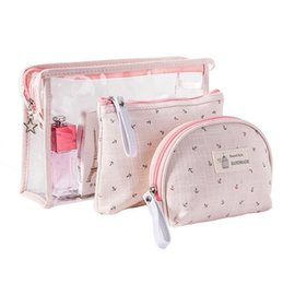 3 Set Casual Women Boat Anchor Travel Cosmetic Bag PVC Leather Zipper Make  Up Transparent Makeup Case Organizer Storage Pouch Toiletry Bags 1bc6954ffb