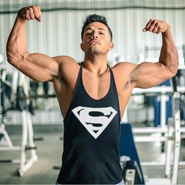 Wholesale Undershirt Tank Tops - Brand gym vest clothes fitness mens muscle bodybuilding undershirt tank tops men gym sleeveless singlet clothing