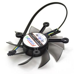 Tarjeta grafica fan asus online-Nuevo ventilador de enfriamiento FirstD FD8015U12S 75MM 12V 0.5AMP 4Pin para ASUS GTX 650 GT740 650Ti EAH6770 7750 Ventilador para enfriador de tarjeta gráfica