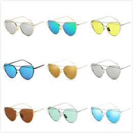 Wholesale sun protection film - Elegant Fashion Metal Full Frame Color Film Glasses UV Protection Sun Shade HD Women's Sun Sunglasses Multi-colors