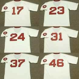 Wholesale Black Evans - MEN YOUTH WOMEN Boston 17 CECIL COOPER 23 LUIS TIANT 24 DWIGHT EVANS 31 FERGUSON JENKINS 37 BILL LEE white 1975 Throwback Baseball Jersey