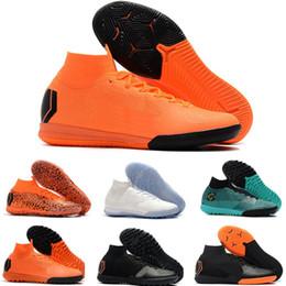 2019 ronaldo cr7 zapatos de interior Niños marca indoor Mercurial Superfly SuperflyX KJ VI 360 Elite Ronaldo CR7 IC TF Hombres Mujeres Niños Zapatos de fútbol Cristiano Botas de fútbol ronaldo cr7 zapatos de interior baratos