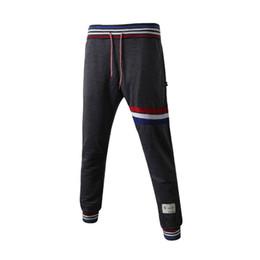 Deutschland Mode Striped Trendy Männer Hosen Elastische Taille Lose Beiläufige Lange Hosen Baumwolle Herbst Winter Hip Hop Sporthose supplier trendy men trousers fashion Versorgung
