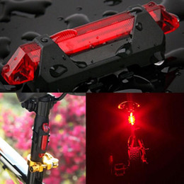 Wholesale bicycle rear tail light - Hot Selling USB Rechargeable Bike LED Tail Light Bicycle Safety Cycling Warning Rear Lamp Free Shipping