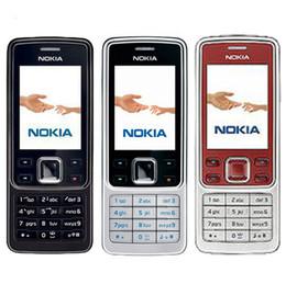 Wholesale camera language - Refurbished Original Nokia 6300 Bar 2.0 inch Screen 2G GSM Mobile Phone 2MP Camera Multi Language Bluetooth FM MP3 Cheap Phone DHL 10pcs