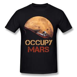 raumhemden Rabatt Neuheit Mann Besetzen Mars SpaceX Starman T-Shirt Cool Man 100% Baumwolle Elon Moschus Space X T-Shirt Sommer Camiseta