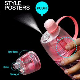 Wholesale Gym Bottles - Creative Spray Sports Water Bottle Professional Sports Bottle for Outdoor Sports Gym Spray Bottle Cooling For Outdoor