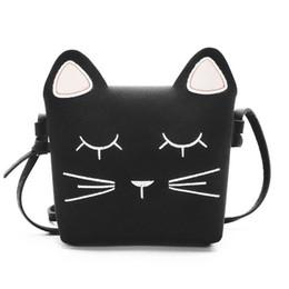 Bolso de gato negro online-Bolso infantil Bolso cat Bolso lindo Bolso Cute Cat Girls Bolso infantil Kid Bolso negro Bolsos para niños Regalo para niña