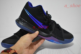 Wholesale Fabric Switches - Kyrie 3 Flip The Switch Mens Basketball Shoes Black Deep Royal-Royal Blue