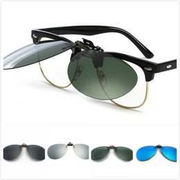 Wholesale Clip Eye Glasses - High Quality Eye Protection Polarized Color Flim Men's and Women's Near Sighted Driving Sun Glasses Clip Mix Wholesale