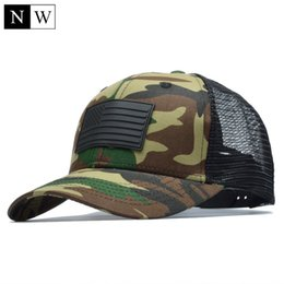 Wholesale Camo Hats Caps - [NORTHWOOD] Camo Mesh Baseball Cap Men Camouflage Bone Masculino Summer Hat Men Army Cap Trucker Snapback Hip Hop Dad Hat