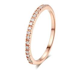 Anéis de ouro mini on-line-20 PCS Anel De Casamento Para As Mulheres Homem Concise Multicolor Clássico Mini Cubic Zirconia Rose Gold Cor Moda Jóias R132 R133 Zhouyang