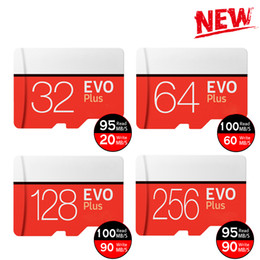 Wholesale Tablets 32gb - 256GB 128GB 64GB 32GB Black VS White EVO PLUS TF Flash Card 90MB s 80MB s High Speed Class 10 Fast for Cameras Smart Phones Tablet PC